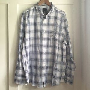 Calvin Klein Long Sleeve Button Down Shirt, XL